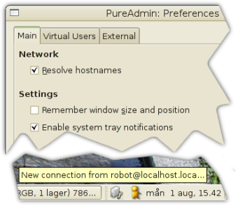 PureAdmin with System Tray notifications